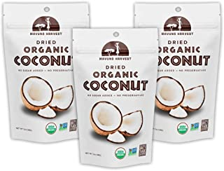 Mavuno Harvest Direct Trade Organic Dried Fruit, Coconut, 3 Count