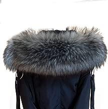 Eforstore Women's Faux Fur Collar Winter Warm Scarf Hood Collar Wrap Raccoon Fox Hooded Edges Coat