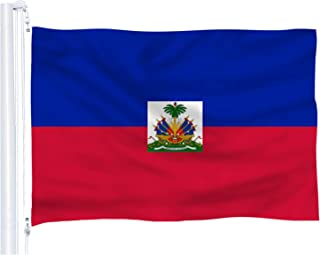 DFLIVE Haiti Flag 3x5 ft Printed Polyester Fly Haitian National Flag Banner with Brass Grommets