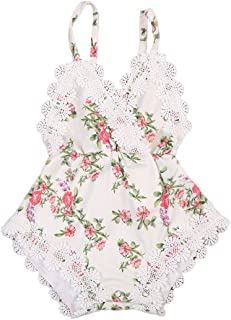 Baby Girl Clothes, Cute Summer 0-3 Months Baby Girl Clothes, Lace Sling Backless Tights Baby Clothes Girl for Wear on The Body Gift Photograph Home Outdoor (Color : White, Kid Size : 6M)