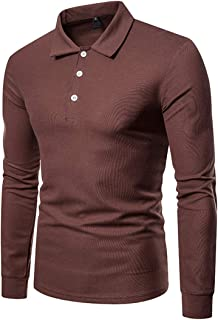 Men's Polo Shirt Long Sleeve Polo T-Shirt Casual Tee Sweatshirts Slim fit Fashionable Autumn Spring Daily Wear Solid Color...