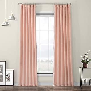 HPD Half Price Drapes VPYC-198601-108 Heritage Plush Velvet Curtain, 50 X 108, Peach Blossom