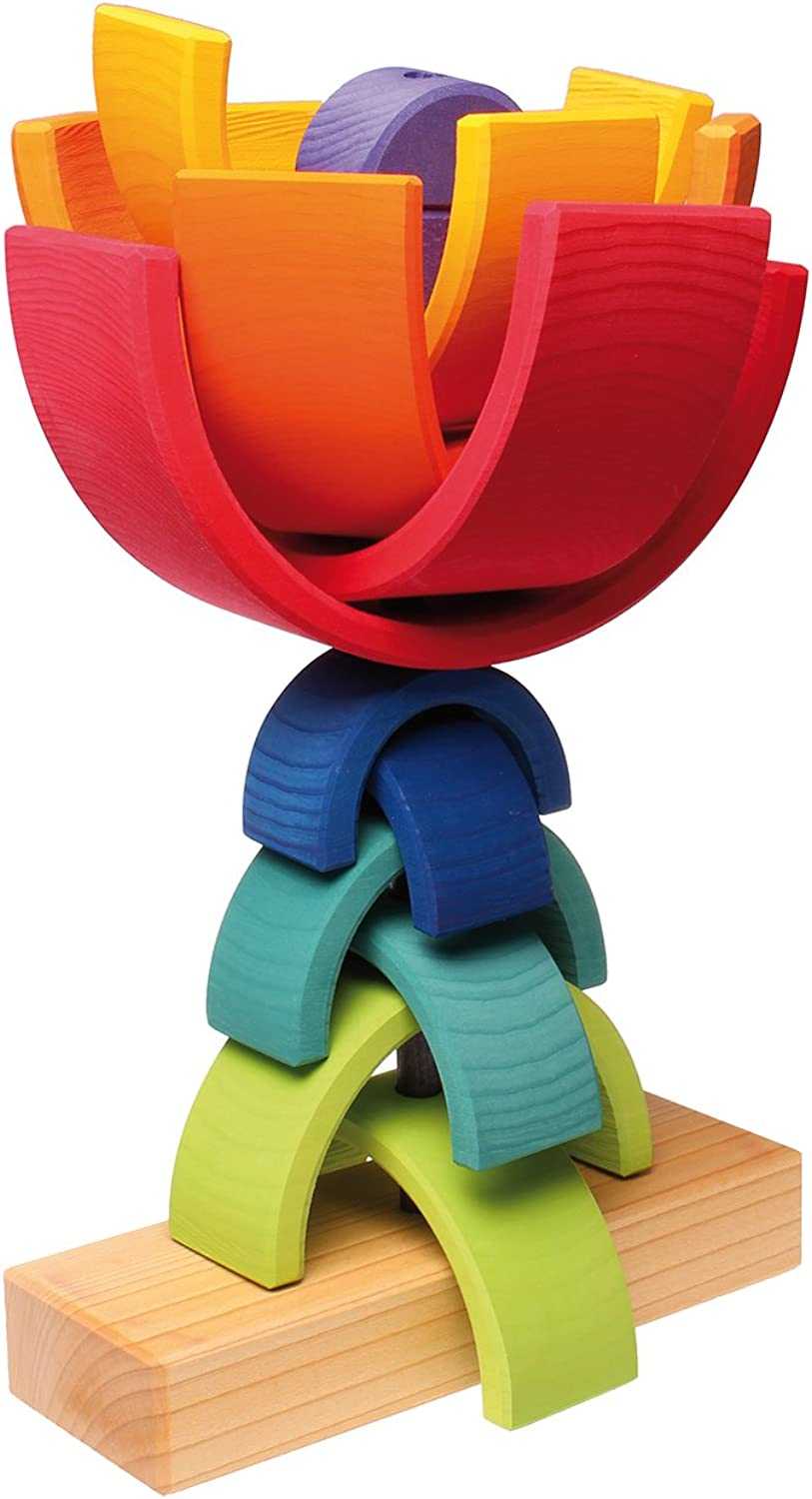 Grimm's Toys Stacking Tower Rainbow