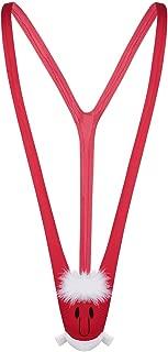 Men's Christmas Gag Gift Santa Mankini Sling Shot Suspender Thong Bodysuit