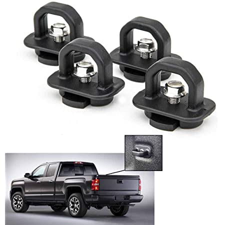 Truck Bed Anchor 2015-2020 Colorado Canyon Rying 4pcs Truck Bed Tie Downs Anchors DZ97903 Replacement for 2007-2020 Silverado Sierra