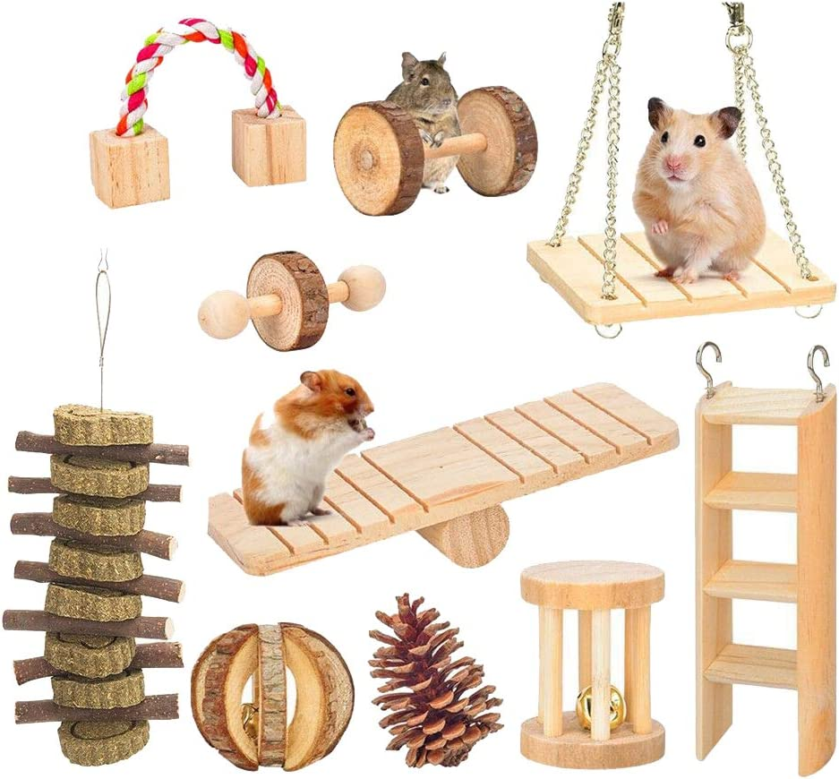 7 paquetes de juguetes de masticaci/ón para p/ájaros de madera natural para colgar p/ájaros peque/ños periquitos conejitos de peluche guacamayos y p/ájaros del amor