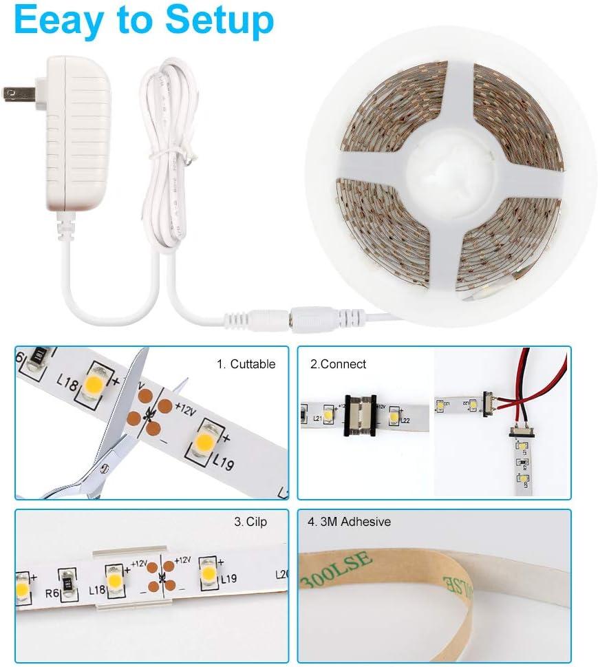 Led Strip Lights 16.4 Feet 150 LEDs 12 Volt Led Lights for Bedroom TV Backlight Room Ceiling Kitchen Multicolor Decoration CT CAPETRONIX 5050 RGB Led Lights Strip with Remote Control