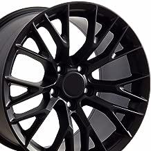 OE Wheels 18 Inch Fits Chevy Camaro Corvette Pontiac Firebird C7 Z06 Style CV22 Satin Black 18x10.5 Rim Hollander 5734