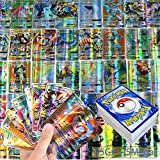 100 Piezas Pokémon,Tarjetas GX Tag Team,Juego de Tarjetas De Poke GX,Cartas Pokemon GX,Juego De Tarjetas De Pokémon,Pokémon Cartas,Cartas Coleccionables,(95 Gx + 5 Mega)