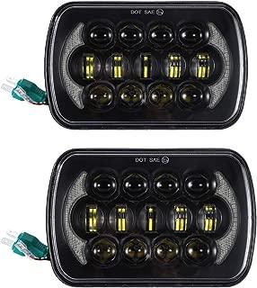 SXMA - Faros delanteros LED de repuesto con luz sellada de 12,7 x 17,8 cm para Jee P Wrangler YJ: Cherokee XJ- (1 par)