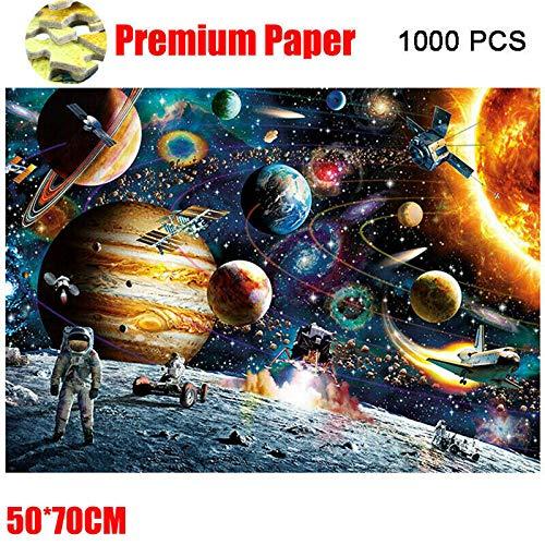 ROHXNK Planetas En El Espacio Jigsaw Puzzle Space Puzzle 1000 Piece Jigsaw Puzzle Kids Adult