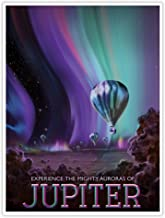 NASA JPL Visions of The Future Space Tourism Travel Poster Jupiter Handmade Gallery Print (18x24)