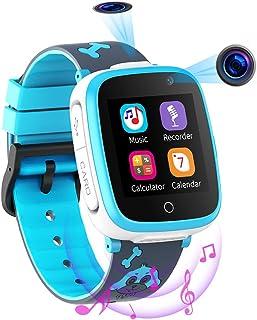 Reloj Inteligente para Niños de 2 Cámaras con Juegos de Música - 1.54 Pantalla Táctil en Color SOS Relojes Inteligentes Ll...