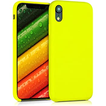 SURPHY Cover iPhone XR Silicone Custodia iPhone XR Silicone Slim Cover Antiurto con Morbida Microfibra Fodera Full Body Cover Case per Apple iPhone XR 6.1 Pollici Ibisco 2018