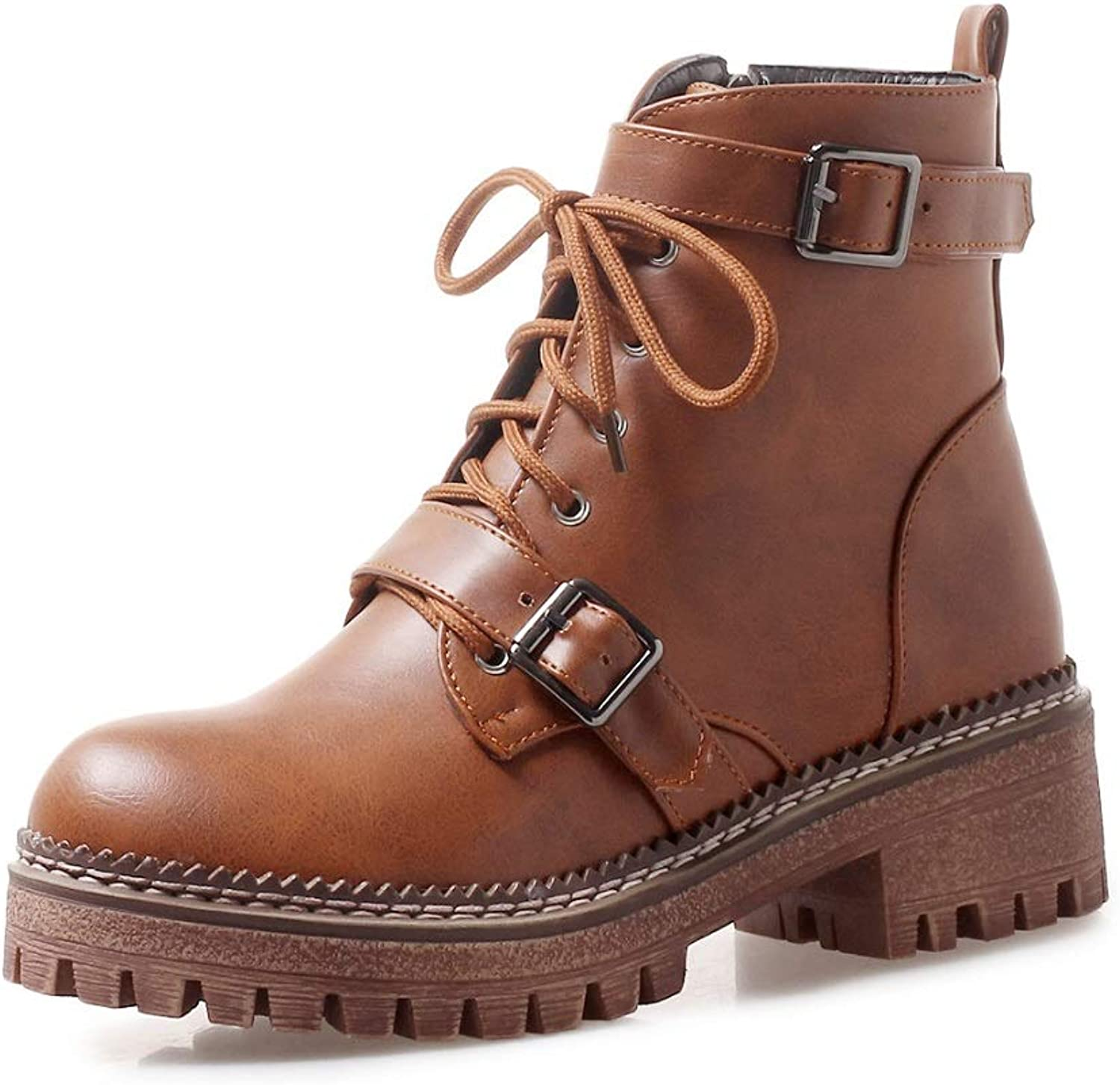 Womens Ankle Boots Casual Boots Faux Fur Lined Grip Sole Winter Army Combat Boots shoes for Women Size UK 3-8.5