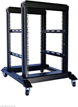 RAISING ELECTRONICS 15U 4 Post Open Frame 19'' Server/Audio Steel Rack 22'' Deep