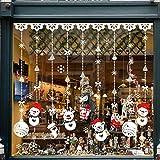 TedGem Noël Flocons De Neige Stickers, NoëL De Stickers Vitres Decoration de Noël Amovibles Statiques en PVC Noël Magasin Fenêtre Décoration, Rend la Maison Pleine de l'atmosphère de Noël