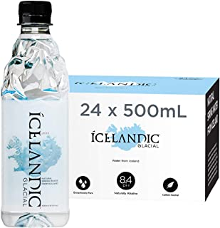 Icelandic Glacial Natural Spring Alkaline Water, 16.9 Fl Oz (Pack of 24)