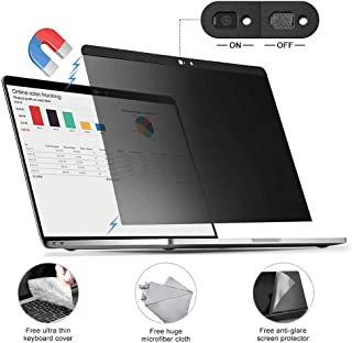 for MacBook pro 15.4 inch Privacy Screen Protector Filter【Magnetic Installation】【Webcam Cover】【 Anti-Glare Screen Protector 】【TPU Keyboard Cover】 for MacBook Pro 15.4 inch Touch bar and Non Touch bar