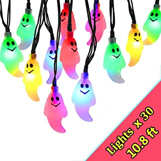 Indoor/Outdoor Halloween String Lights Colorful,Light up Halloween String Lights with Battery Operated,30 LED 10.8ft Holiday Lights for Halloween Party Decor,Dress up Your Home,Porch,Garden Or Yard.