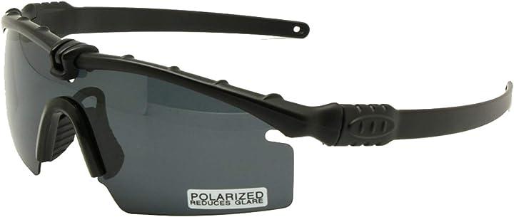 Occhiale tattico esercito-polizia  occhiali uomo telaio 3/4 lente polarizzato ED1059-1 Enzodate