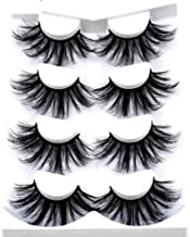HBZGTLAD NEW 4 Pairs 3D Mink Hair False Eyelashes Criss-cross Wispy Cross Fluffy length 25mm Lashes Extension Handmade Eye Makeup Tools (MDR-1)