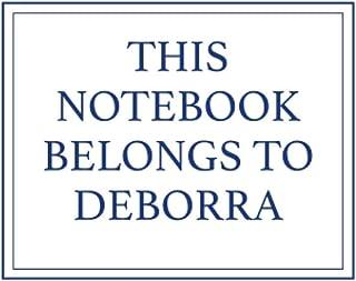 This Notebook Belongs to Deborra