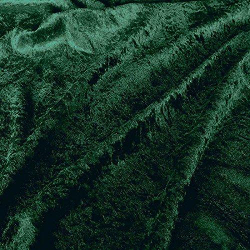TOLKO 1m Pannesamt als Meterware Edel glänzender Stretch Samt-Stoff zum Nähen Dekorieren | 145cm breit Kleidungsstoff Dekostoff Modestoff Polyesterstoff für Vorhänge Gardinen Bühne (Dunkel Grün)