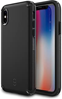 iPhone X, XS Case for Apple iPhone X, XS PATCHWORKS ✔️Military Grade Certified✔️Anti-Slip✔️Dual Layer Protection✔️Impact Resistant✔️Wireless Charging Compatible [Level Arc Series], Black