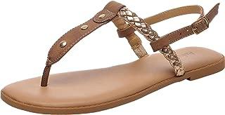 Women's Wide Width Flat Sandals - Flip Flop Open Toe T-Ankle Strap Flexible Summer Flat Shoes