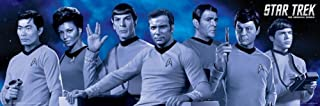 Star Trek Cast Blue Poster 36 x 12in