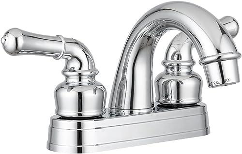 Dura Faucet DF-PL620C-CP RV Classical Two Handle Arc Spout Bathroom Faucet (Chrome)
