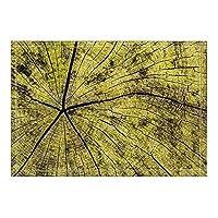 HiYash 木製バスラグの割れ目滑り止めの床の出入り口屋外屋内フロントドアマット、60x40cmバスマットバスルームラグ