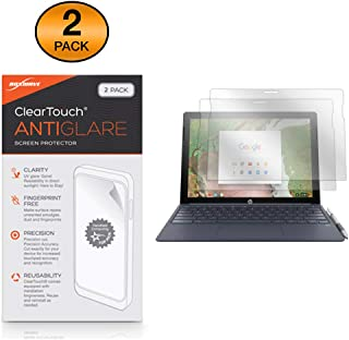 HP Chromebook x2 Screen Protector, BoxWave [ClearTouch Anti-Glare (2-Pack)] Anti-Fingerprint Matte Film Skin for HP Chromebook x2