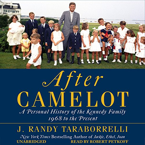 After Camelot     A Personal History of the Kennedy Family - 1968 to the Present              Autor:                                                                                                                                 J. Randy Taraborrelli                               Sprecher:                                                                                                                                 Robert Petkoff                      Spieldauer: 21 Std. und 59 Min.     1 Bewertung     Gesamt 5,0