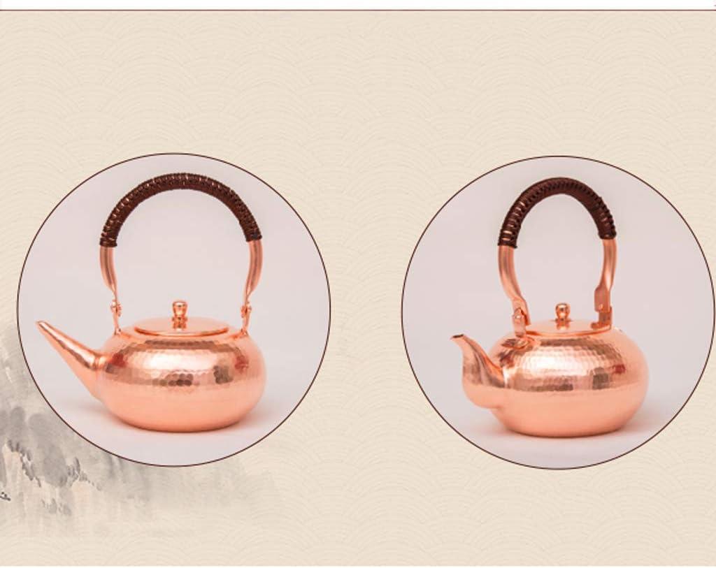 SHUEIHU Bouilloire théière bouilloire en cuivre Kung Fu service à thé (Color : Metallic) Metallic