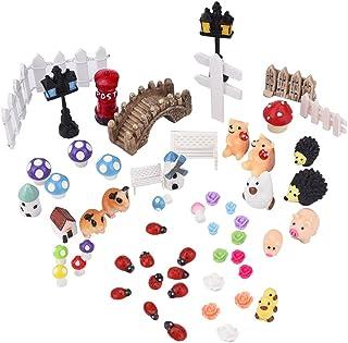comprar comparacion Paisaje Ornamento Decoración Adorno Miniatura Jardín de Hadas, 56 piezas