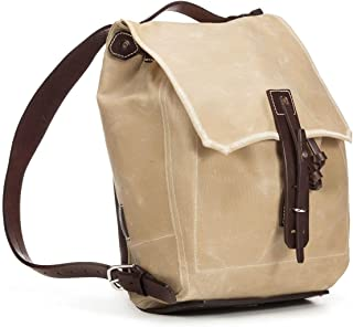 Saddleback Leather Co. Simple Canvas Backpack - Waxed Canvas Leather Backpack Includes 100 Year Warranty