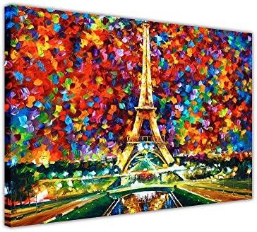 Canvas It Up Impression sur toile encadrée Paris de mes rêves par Leonid Afremov 30 x 20 cm