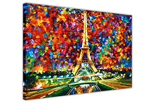 CANVAS IT UP New Paris of My Dreams von Leonid Afremov auf Bild auf Rahmen Wand Art Prints City Scenery Größe: 101,6 x 76,2 cm (101 x 76 cm)