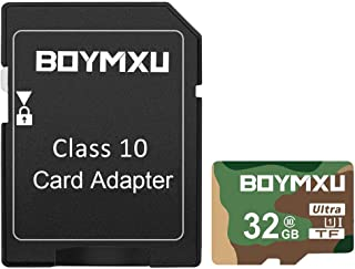 TF Card 32GB,BOYMXU TF Memory Card with Adapter,High Speed UHS-I Card Class 10 Memory Card for Phone Camera Computer-Milit...