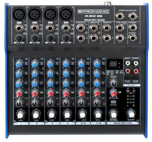 Pronomic Mixer M-802 FX: Amazon.es: Instrumentos musicales