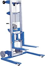 """Genie Lift, GL- 10, Straddle Base, Heavy-Duty Aluminum Manual Lift, 350 lbs Load Capacity, Lift Height 11' 8"""" from Ground Level"""