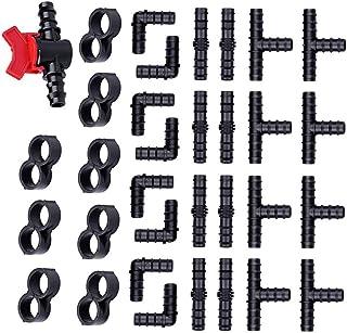 33 قطعة تجهيزات الري بالتنقيط عدة موصلات شائك بالتنقيط موصلات شائك ملحقات نظام الرش بالتنقيط