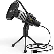 USB Microphone, TONOR Condenser Computer PC Mic with Tripod Stand, Pop Filter, Shock Mount for Gaming, Streaming, Podcasti...