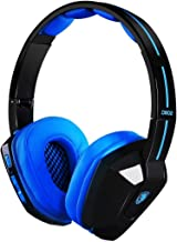 SADES D802 Foldable Lightweight Wireless Stereo Headset with Mic Vibration for Gaming/PC/Laptop/iPad/Smartphone(BlackBlue)