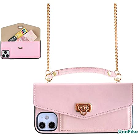 Purse Flip Card Pouch Stand Holder Cover Case with Long Shoulder Strap Pink, iPhone 11 Pro Max UnnFiko Wallet Case Compatible with iPhone 11 Pro Max Cute Camera/Design