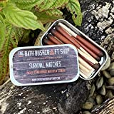 The Bath Bushcraft Shop Lot de 12 allumettes de Survie imperméables et Coupe-Vent...