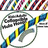 Pro Kids COLLAPSIBLE Hula Hoops 3-Farbe (Ultra-Grip / Glitter Deco) Gewichtetes Zerlegbarer...
