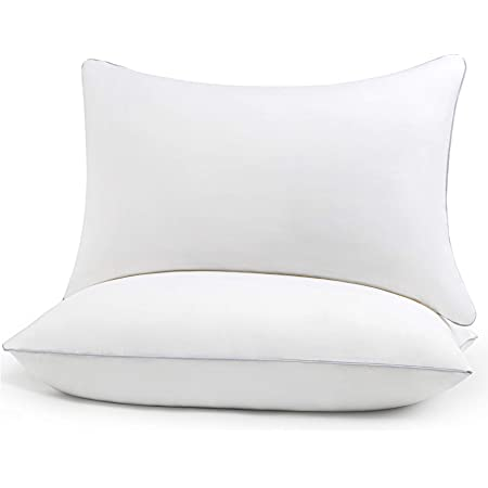 HIMOON Bed Pillows for Sleeping 2 Pack,Queen Size Cooling Pillows Set of 2,Top-end Microfiber Cover for Side Stomach Back Sleepers
